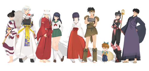 (MMD) InuYasha pack model [~DL~] by Fghostly