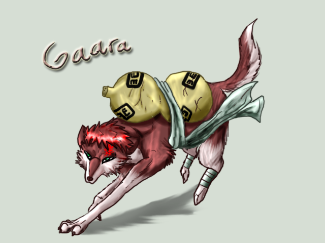 Gaara dog form by Sugarseme on DeviantArt Gaara As A Wolf