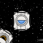 Portal2:OMG OMG I'M IN SPACE by SugarKills