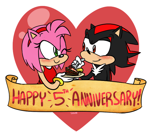 Sonic happy th anniversary by sugarkills on deviantart