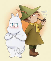 Moomin: Snufkin and Moomin by SugarKills