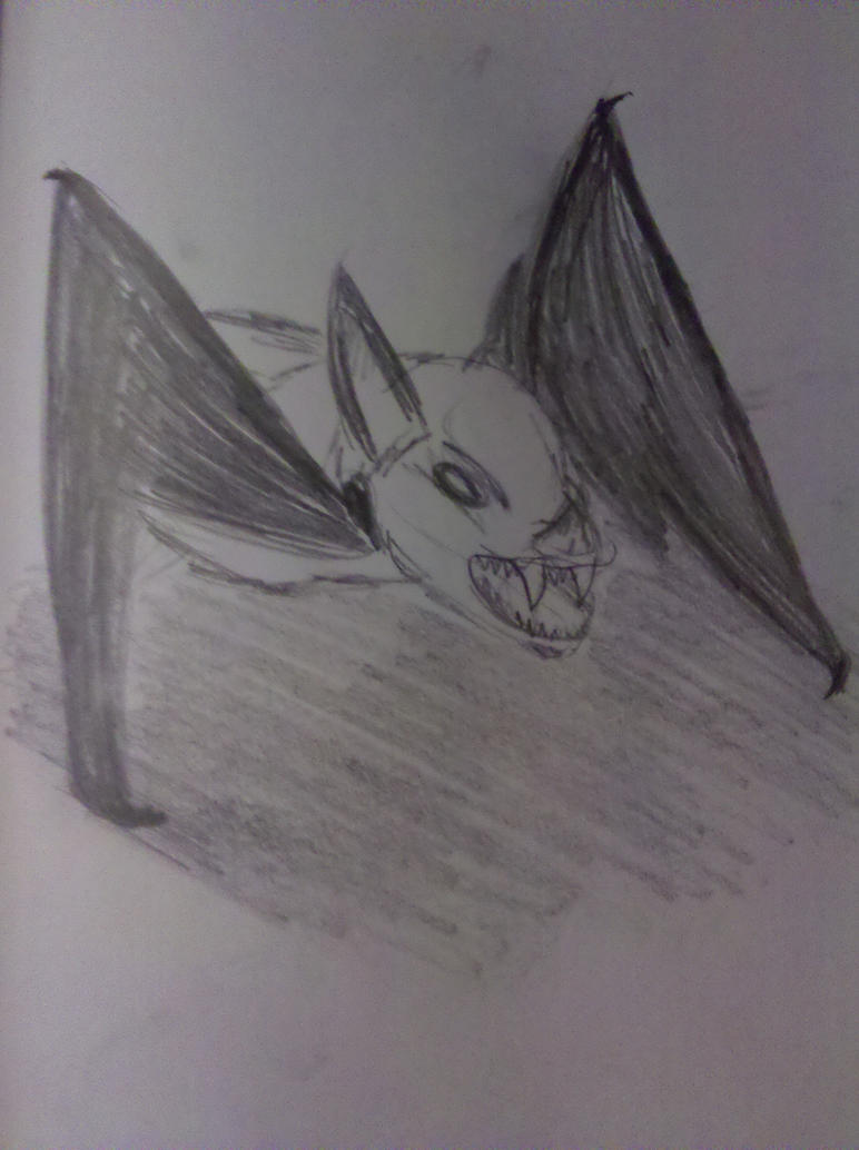 Snarling Vampire Bat by Mythhunter