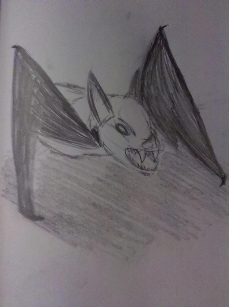 Snarling Vampire Bat by Mythhunter