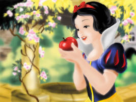 Snow White and the Seven Dwarfs by Cherry-nichan