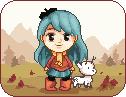 Hilda and Twig pixelated by hildegarna