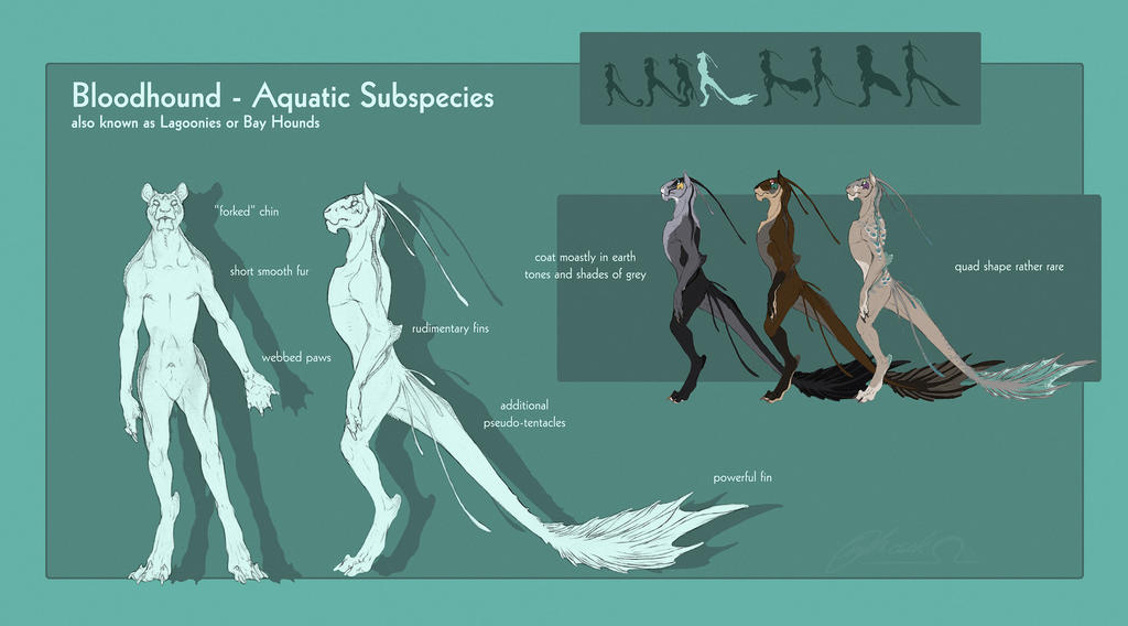 Bloodhound - Aquatic Subspecies by BloodhoundOmega