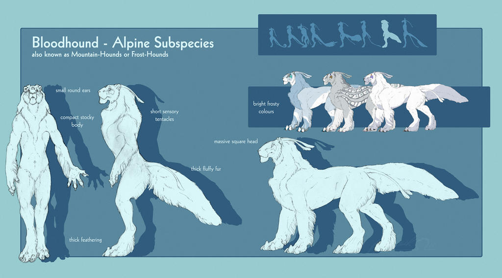 Bloodhound - Alpine Subspecies by BloodhoundOmega