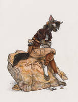 Steampunk Geologist by BloodhoundOmega