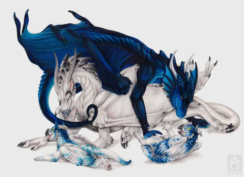 Dragon Family Portrait by BloodhoundOmega