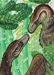 ACEO Velo(ve)ciraptors by BloodhoundOmega
