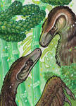 ACEO Velo(ve)ciraptors by BloodhoundOmega