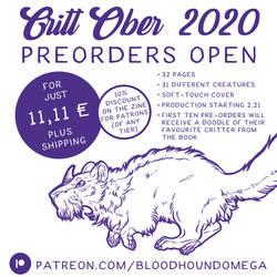 CrittOber 2020 Art Zine - PreOrders Open