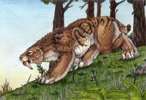 Smi-Sma-Smilodon by BloodhoundOmega