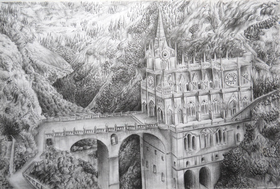 Cathedral pencil sketch 2 by lorettawanda
