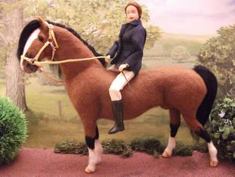 OOAK needle felted horse by Tawneyhorses