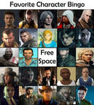 Favorite Character Bingo - Video Game Males by Matthiamore