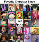 Favorite Character Bingo - Cartoon Females #1 by Matthiamore
