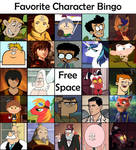 Favorite Character Bingo - Cartoon Males #2 by Matthiamore