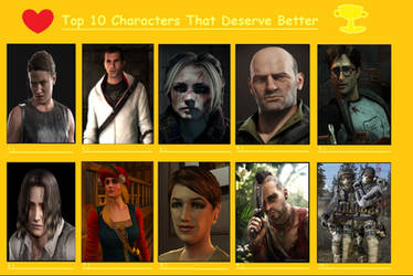 10 Video Game Characters That Deserved Better by Matthiamore