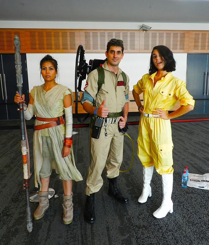 Supanova GC - Rey, Ghost Buster and April O'Neil