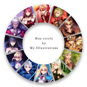 Hue circle by my illustrations