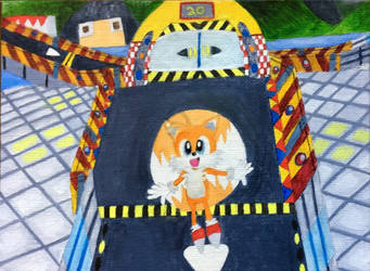 Tails In Radical City (Sonic R) by DecemberWildfire