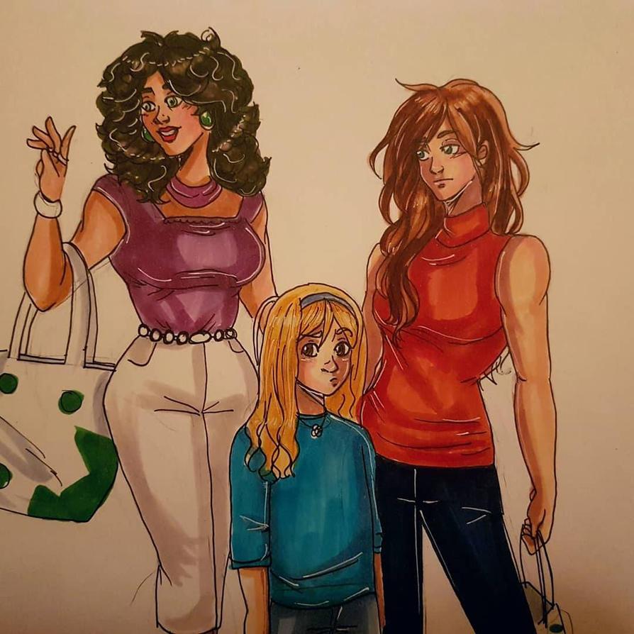 family shopping  by BlueSkittelz