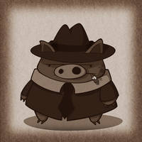Noir Pig by IgorSan