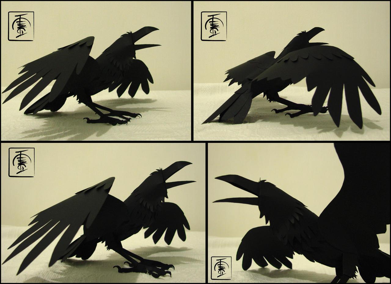 Paper Raven by IgorSan