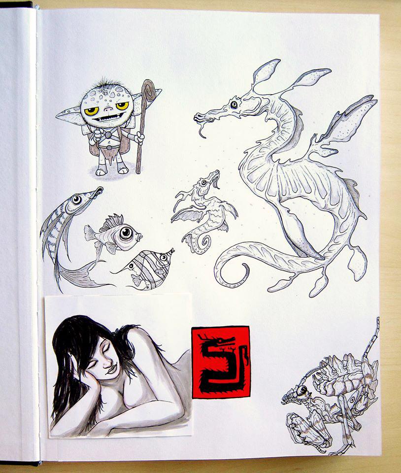Sketchbook dump 1 by IgorSan
