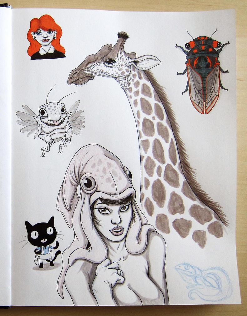 Sketchbook dump 4 by IgorSan