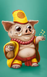 Fortune Pig by IgorSan