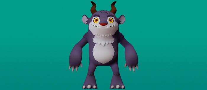 Purple Monster Toy