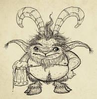 Satyr sketch by IgorSan