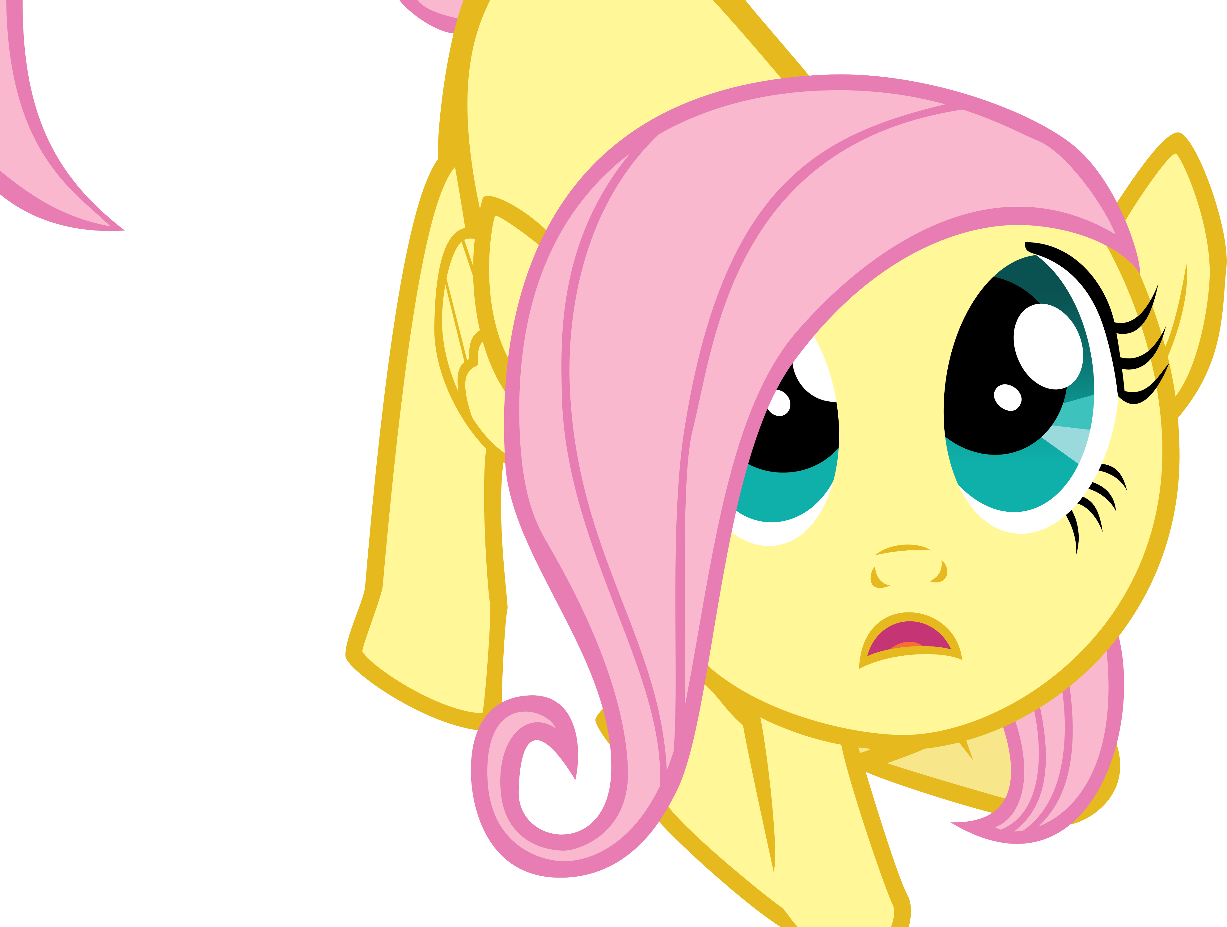 fluttershy-filly-vector