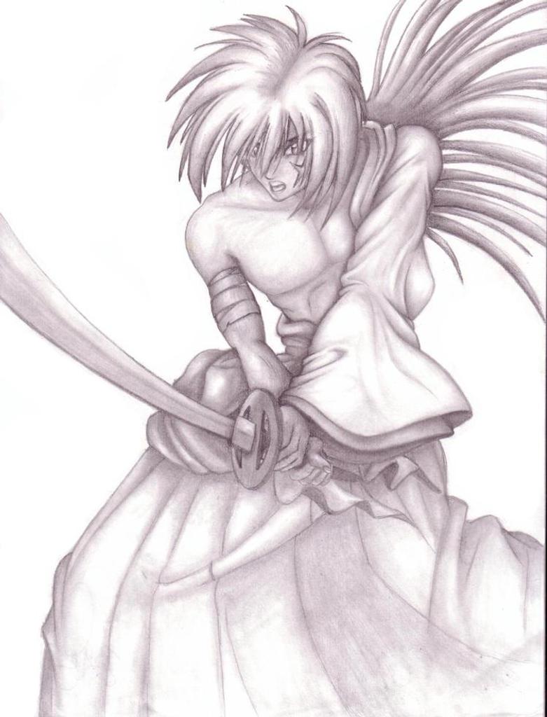 Kenshin Pencil Drawing By GanesaSama