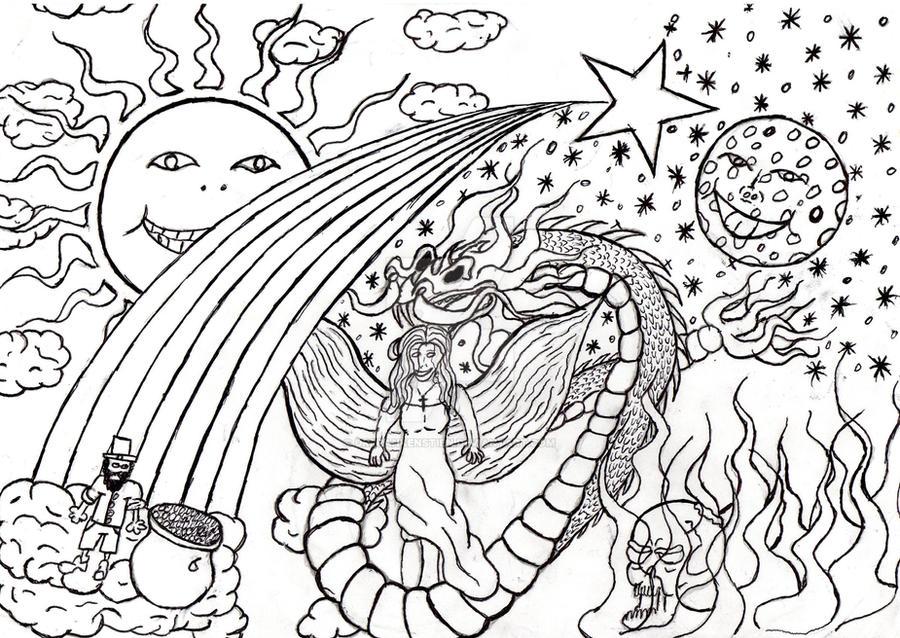 original acid trip drawing by drfrankenstien on deviantart