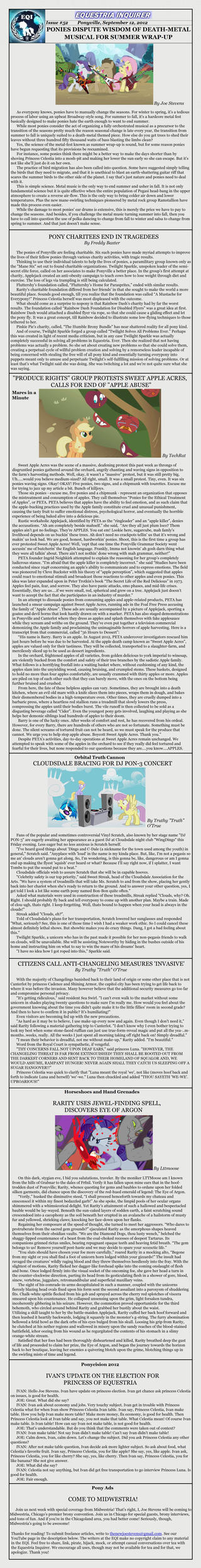 Equestria Inquirer 52 by JoeStevensInc