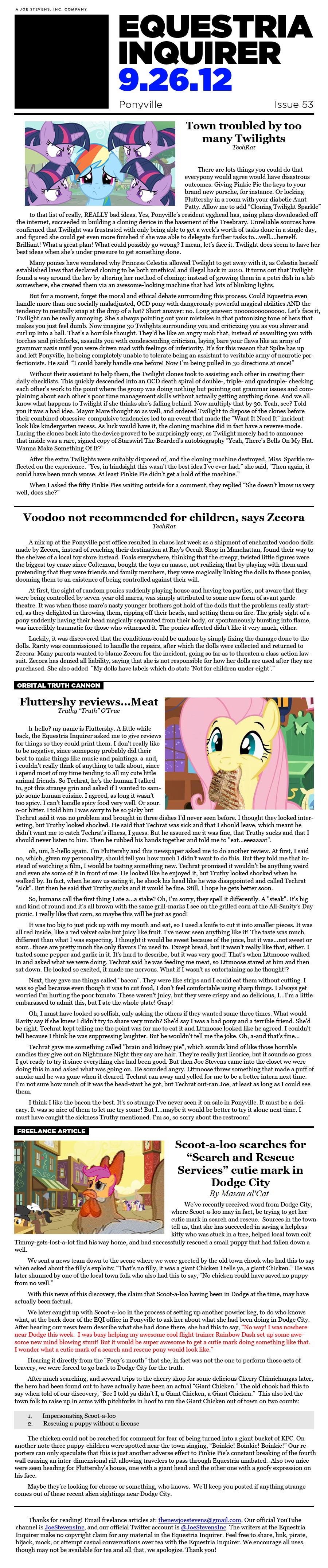 Equestria Inquirer 53 by JoeStevensInc