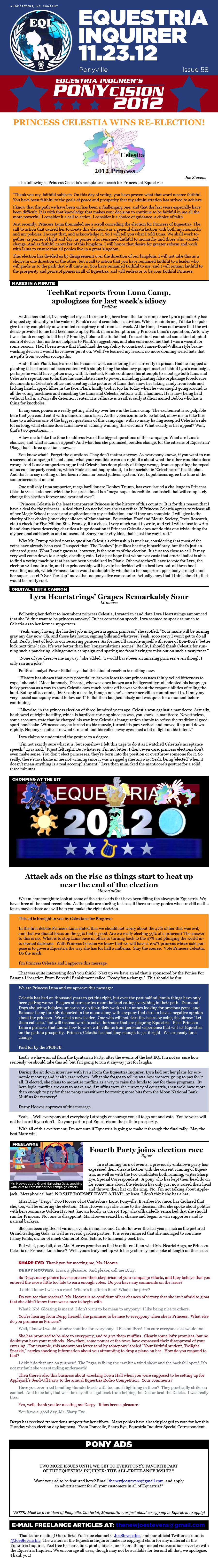 Equestria Inquirer 58 by JoeStevensInc