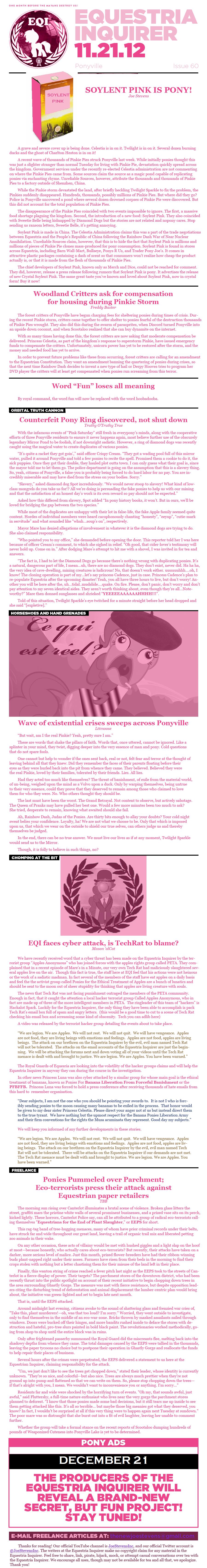 Equestria Inquirer 60 by JoeStevensInc