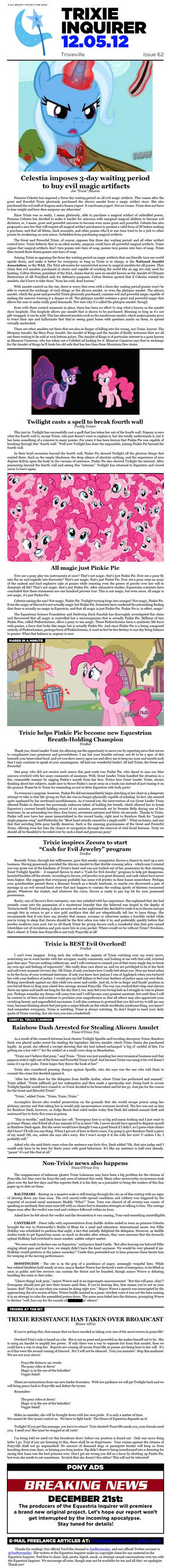 Equestria Inquirer 62 by JoeStevensInc