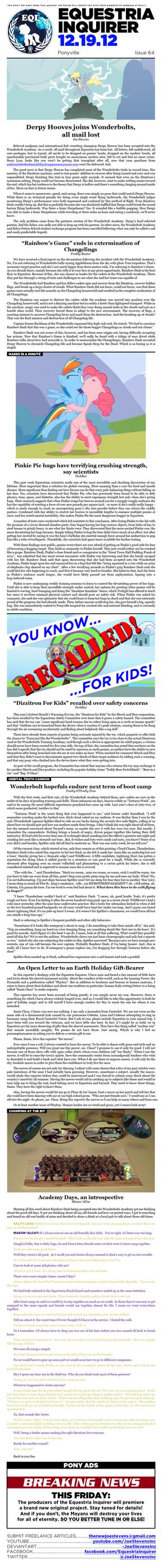 Equestria Inquirer 64 by JoeStevensInc