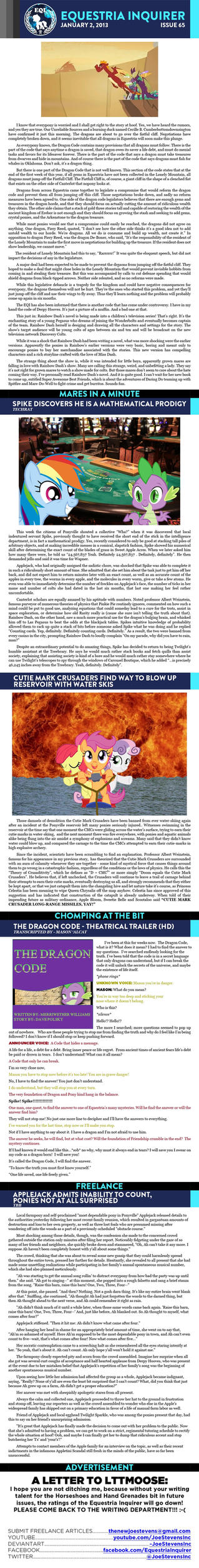 Equestria Inquirer 65 by JoeStevensInc