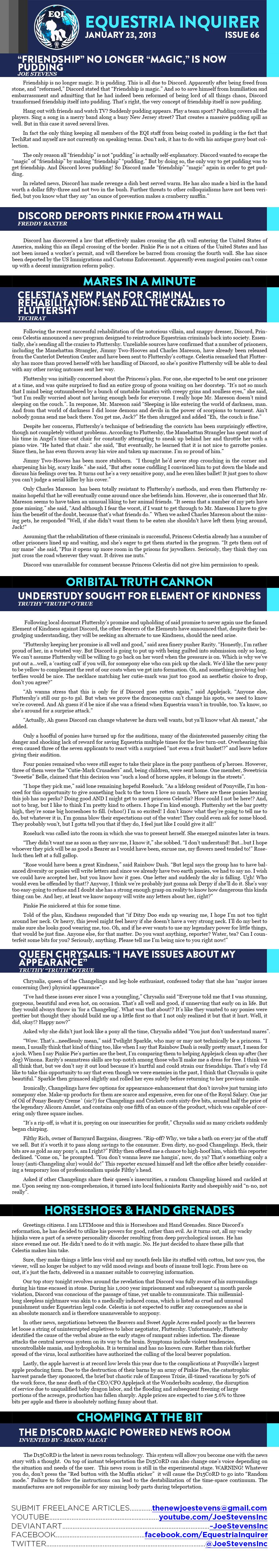 Equestria Inquirer 67 by JoeStevensInc
