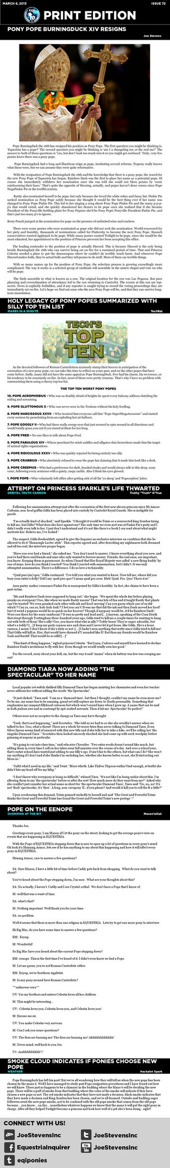 Equestria Inquirer 72 by JoeStevensInc