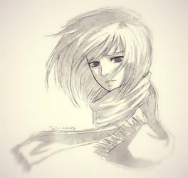 Shingeki no Kyojin: Mikasa Ackerman by Iris-icecry