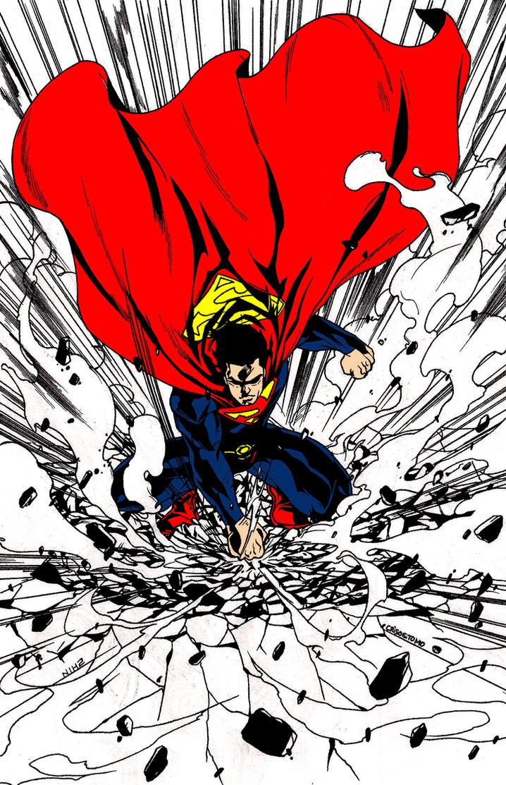 Superman Crash Landing by skyuuketsuki