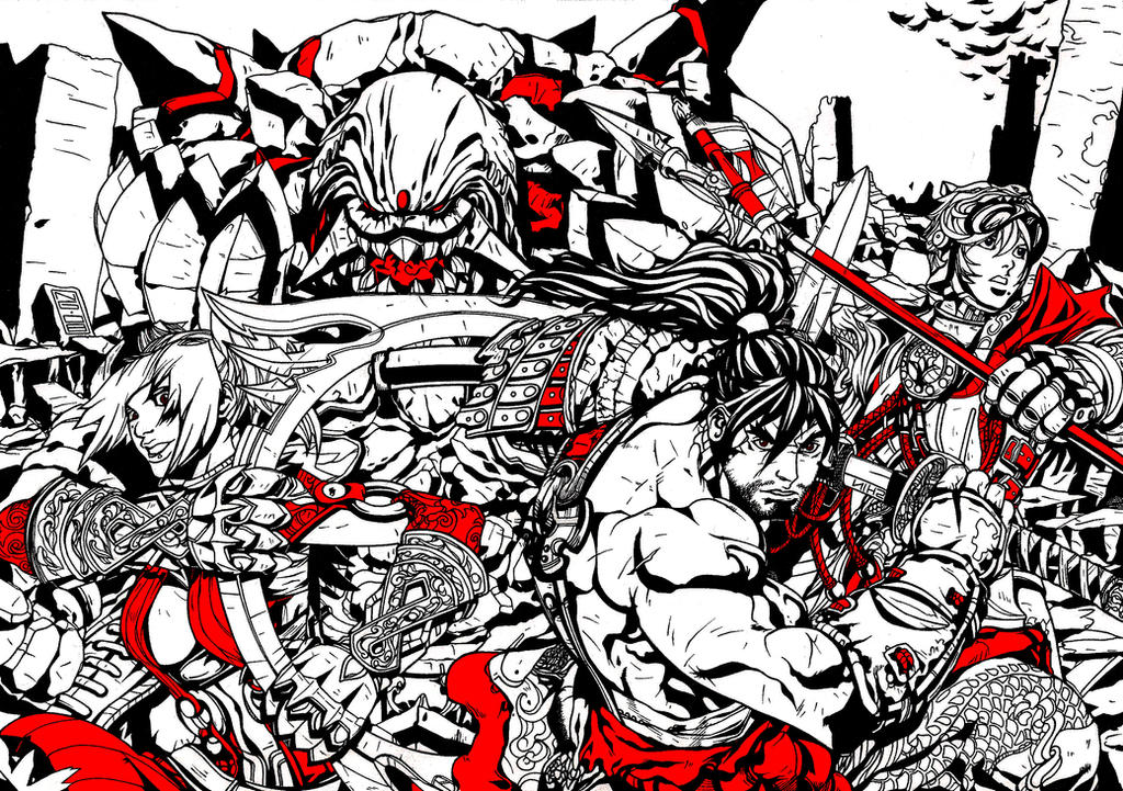 Soul Calibur Red by skyuuketsuki