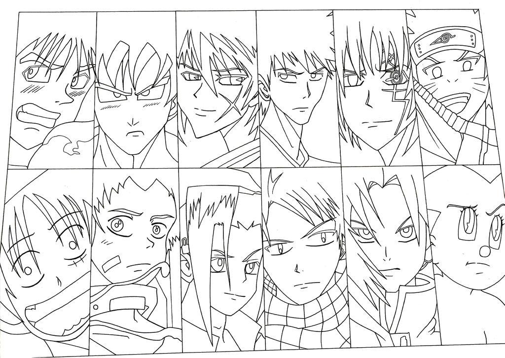 Shounen Kings Line art by skyuuketsuki